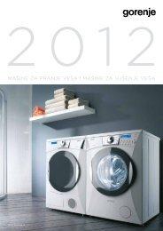Pdf katalog: Gorenje Mašine za pranje i sušenje veša 2012