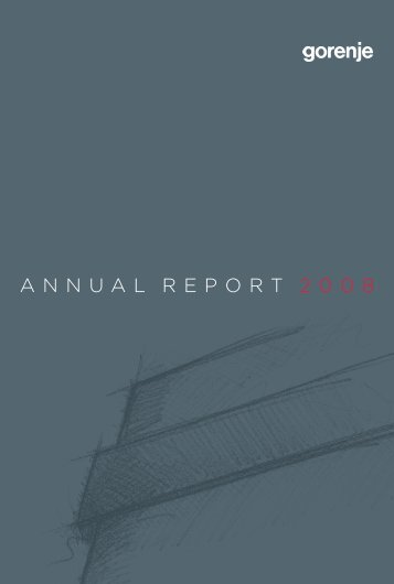 ANNUAL REPORT 2008 - Gorenje Group