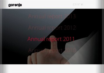 Annual report 2011 - Gorenje Group