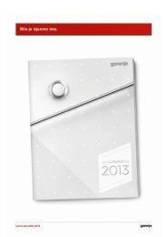 Pdf: Letno poročilo 2010 - Gorenje Group