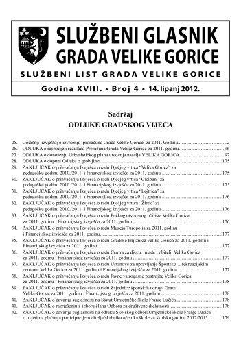 Slu?beni glasnik br. 4/2012 - Grad Velika Gorica