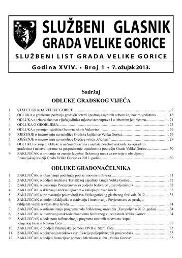 Slu?beni glasnik br. 1/2013 - Grad Velika Gorica
