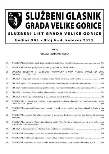 Slu?beni glasnik 04/2010 - Grad Velika Gorica