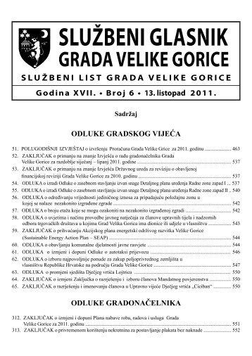 Slu?beni glasnik br. 6/2011 - Grad Velika Gorica