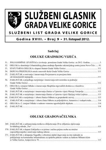 Slu?beni glasnik br. 9/2012 - Grad Velika Gorica