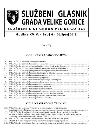 Slu?beni glasnik br. 4/2013 - Grad Velika Gorica