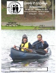Goroke P-12 College Newsletter