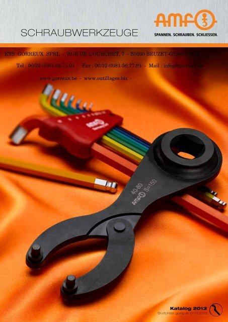 AMF Hakenschlüssel mit Nase 135-145 mm DIN 1810 A