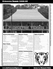 Princeton Tennis 2008-09 - Princeton Athletics