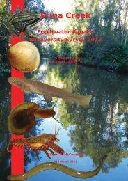 Erina Creek Catchment Aquatic Survey Final Report - Gosford City ...