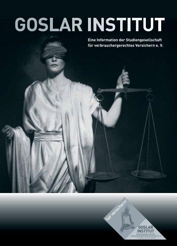fair versichern! - Goslar-Institut