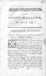 G.cis,pE L'~'MAGAZINE; - The Gospel Magazine