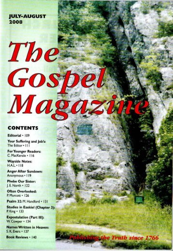 JULY-AUGUST 2008 CONTENTS - The Gospel Magazine