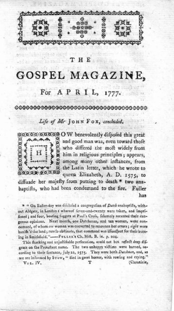 April - The Gospel Magazine