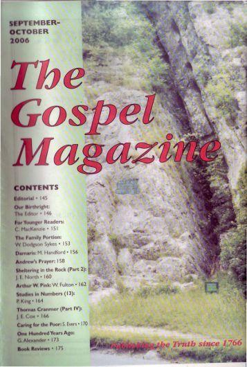 September-October - The Gospel Magazine