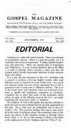 November - The Gospel Magazine