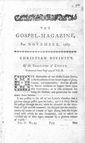 The Gospel Magazine