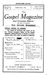Gospel Mogazine d - The Gospel Magazine