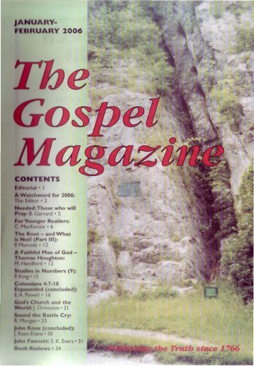 January-February - The Gospel Magazine