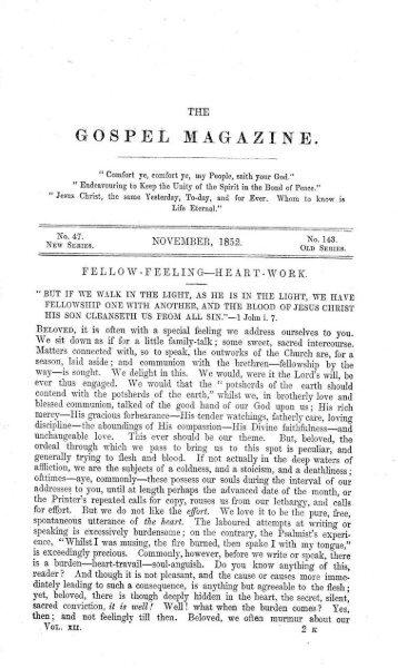 GOSPET, - The Gospel Magazine
