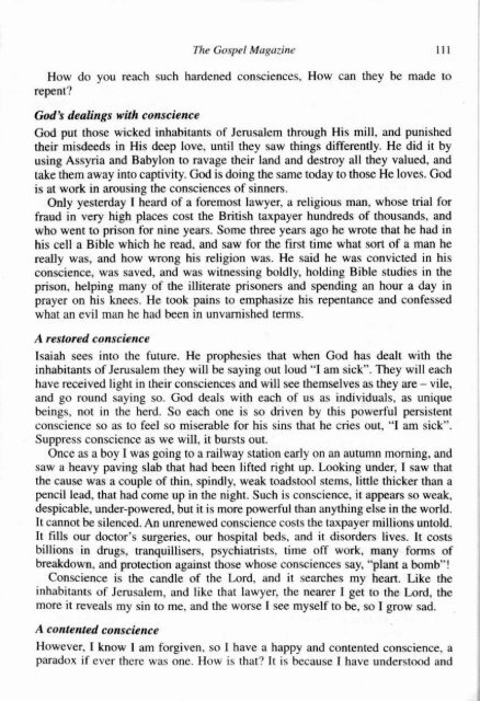 July-August - The Gospel Magazine