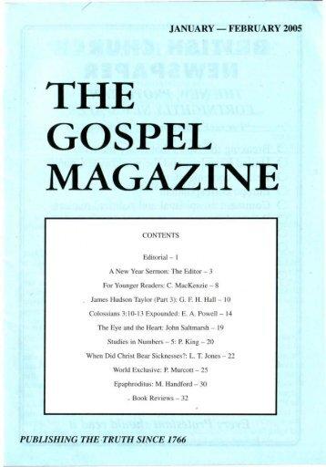 January-February - The Gospel Magazine
