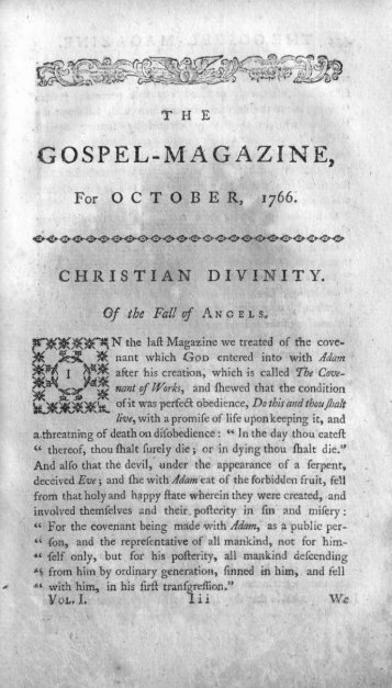 October 1766 - The Gospel Magazine