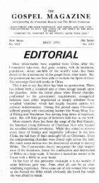 EDITORIAL - The Gospel Magazine