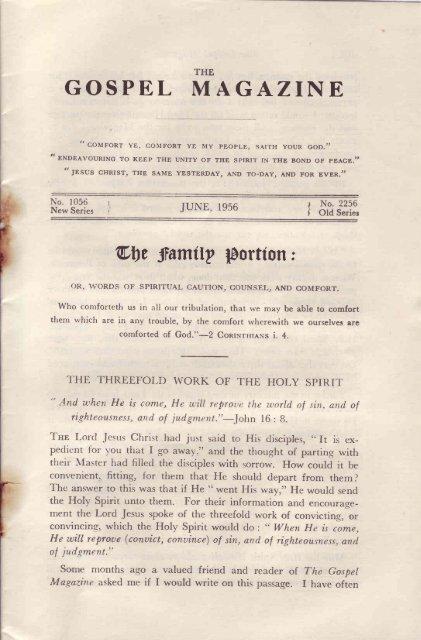 June - The Gospel Magazine