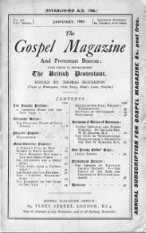 January - The Gospel Magazine