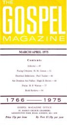 MARCH/APRIL 1975 - The Gospel Magazine