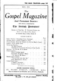 May - The Gospel Magazine