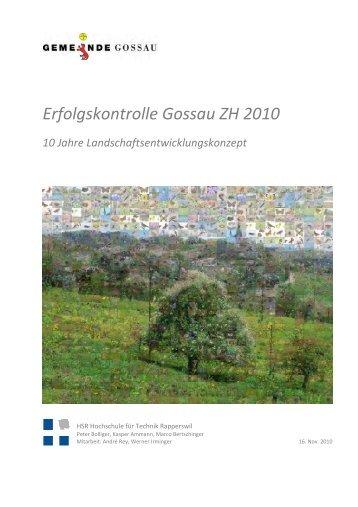 Erfolgskontrolle Gossau ZH 2010 - Gemeinde Gossau