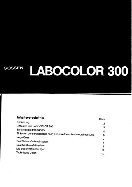 Labocolor 300 - GOSSEN Foto