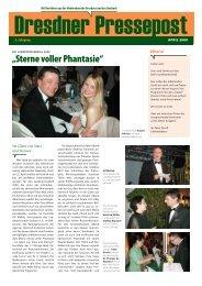 """""""Sterne voller Phantasie"""" - Dresdner Pressepost"""