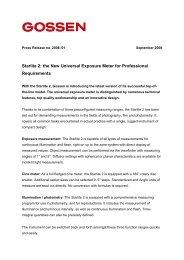 Press release english - GOSSEN Foto