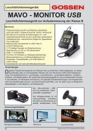 Leuchtdichtemessgeräte MAVO - MONITOR USB ... - GOSSEN Foto