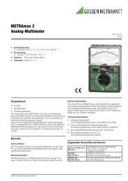 Datenblatt (pdf 184 kB) - Gossen-Metrawatt