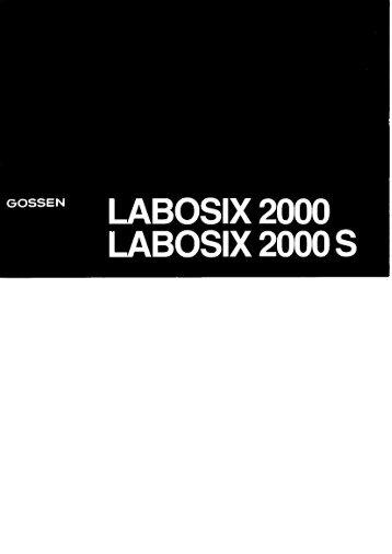 Labosix 2000/2000S (740 kb) - GOSSEN Foto
