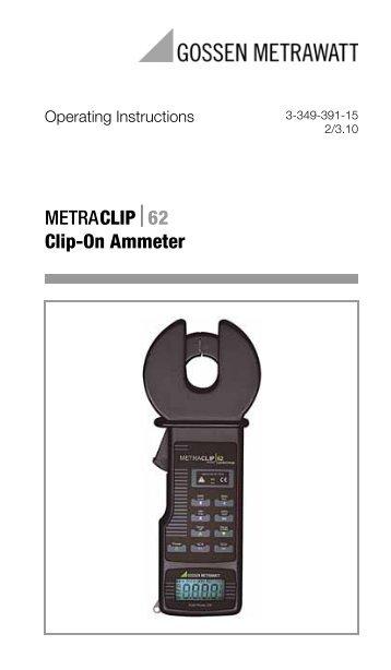 Clip On Ammeter : Metramax gossen metrawatt