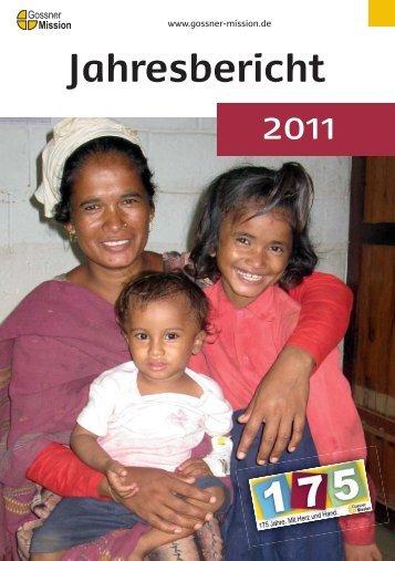 Jahresbericht 2011 - Gossner Mission