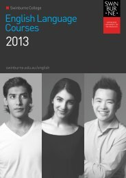 English Language Courses - International Students - Swinburne ...
