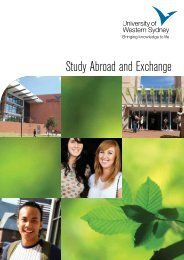 Study Abroad and Exchange - University of Western Sydney