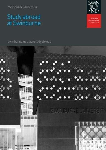 Study abroad at Swinburne - International Students - Swinburne ...