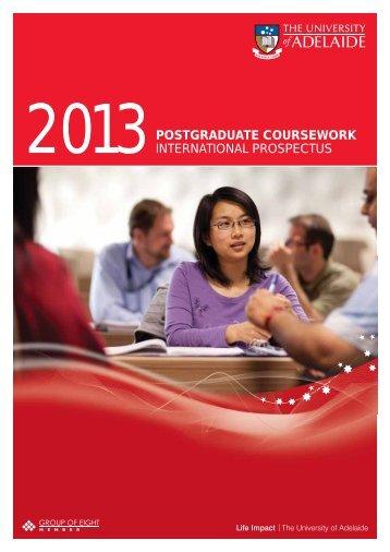 Postgraduate International Coursework Prospectus 2013
