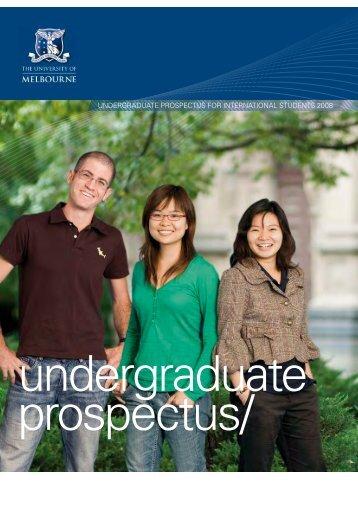 International Undergraduate Prospectus 2008 - GOstralia