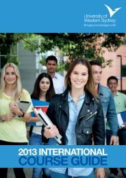 2013 International Course Guide - University of Western Sydney