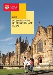 international undergraduate guide 2013 - The University of Sydney