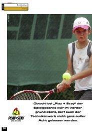 """Obwohl bei """"Play + Stay"""" - gotennis - Erfolgreicher Tennis spielen"""