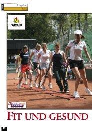 FIT UND GESUND - gotennis - Erfolgreicher Tennis spielen